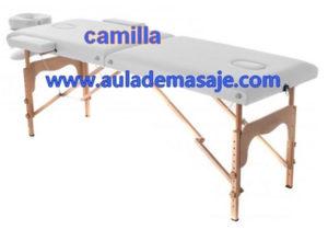 Camilla incluida en los cursos de masaje Fisiomedic Valencia - Aulademasaje.com