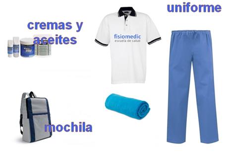 Material incluido en el curso de masaje Fisiomedic - Aulademasaje.com