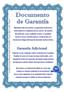 Documento garantía