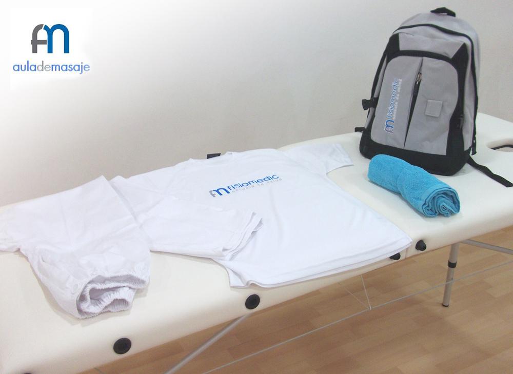 Materiales incluidos en el Curso de Quiromasaje y Masaje Terapéutico-Deportivo de Fisiomedic Aula de Masaje