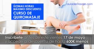 Curso Quiromasaje Valencia con descuento