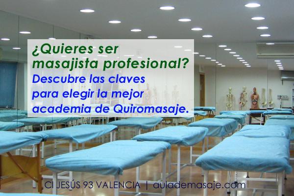 Academia de Quiromasaje en Valencia