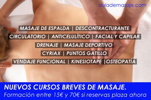 Cursos de masaje breves en Valencia